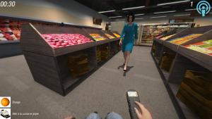 Simulateur miWe: scène du supermarché